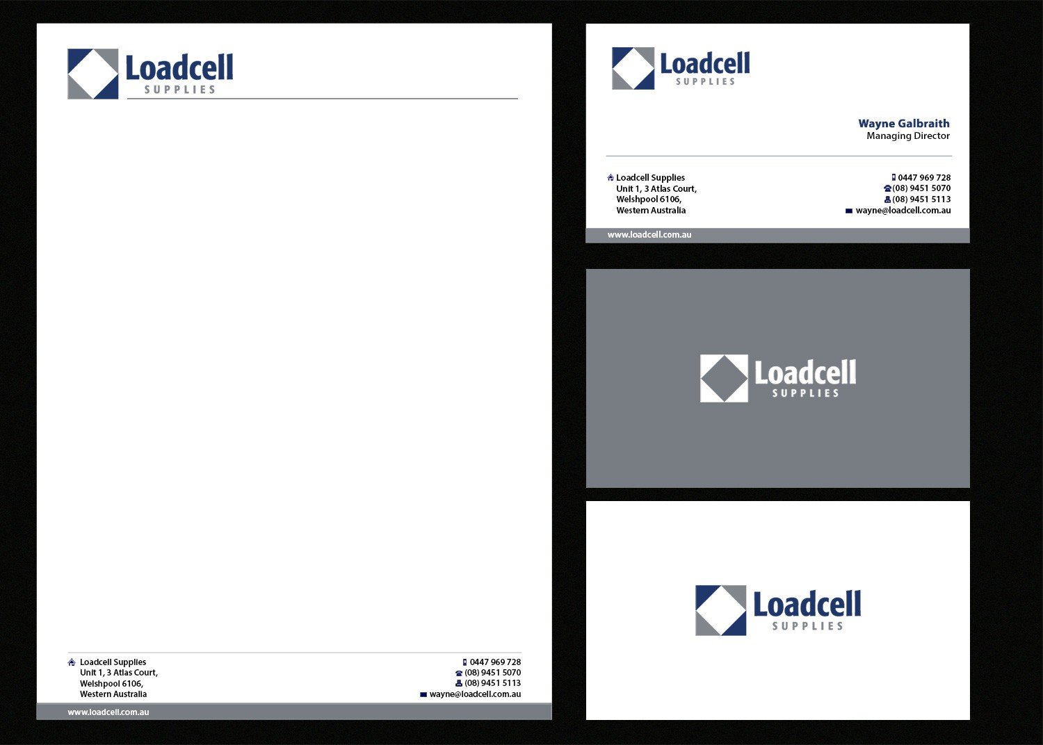 New stationery wanted for Loadcell Supplies