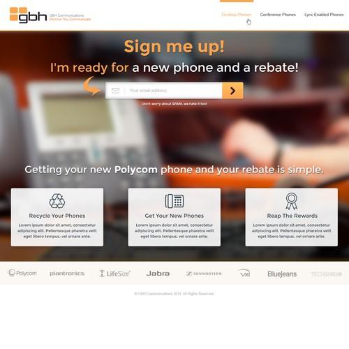 Rebate Campaign Landing Page