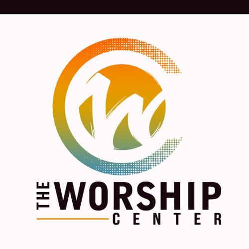 Fresh innovative church logo concept.