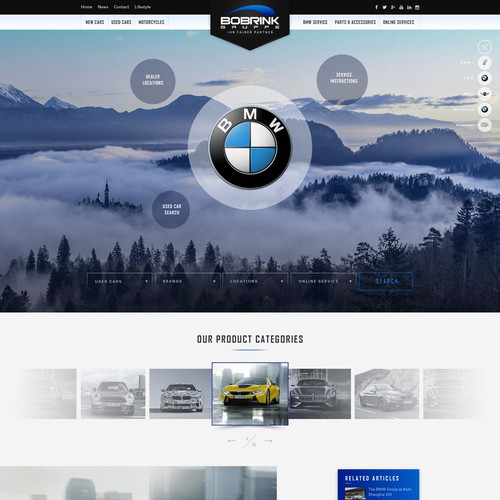 Website for BMW, MINI and Hyundai car dealer