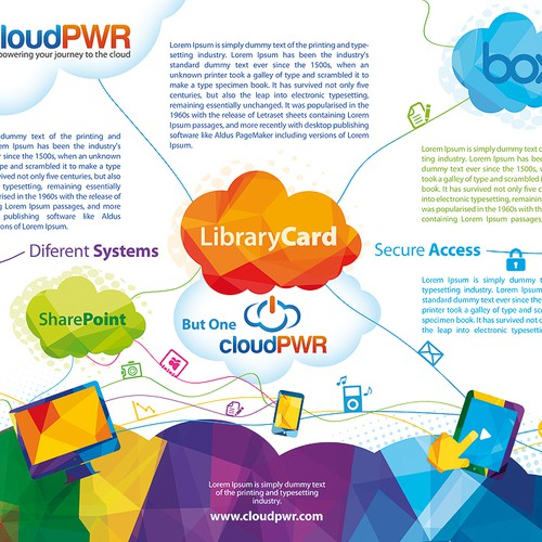 postcard + flyer for cloudPWR