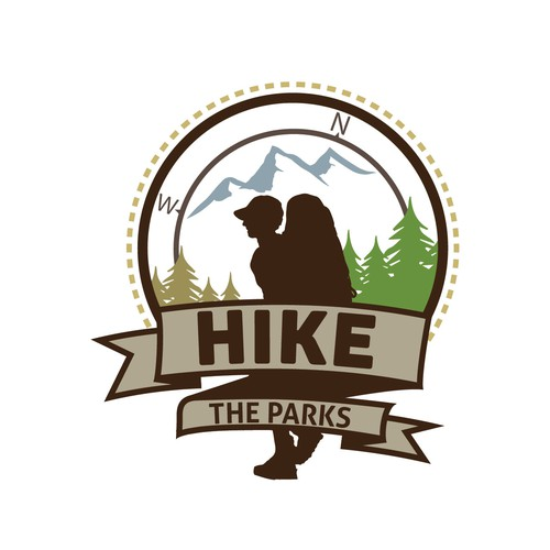 Hike the Parks logo draft
