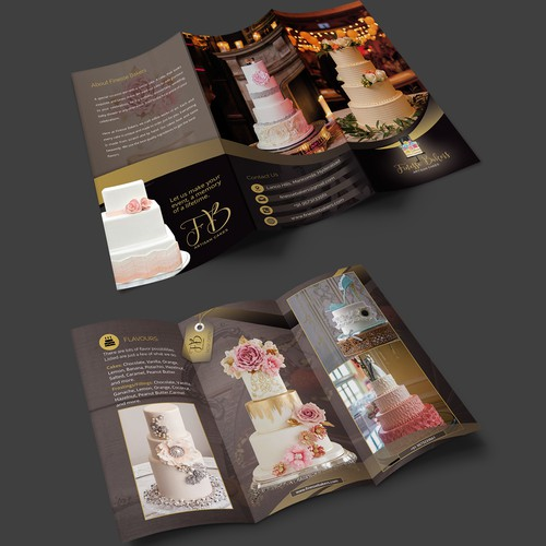 Eye catching brochure for artisan designer cakes