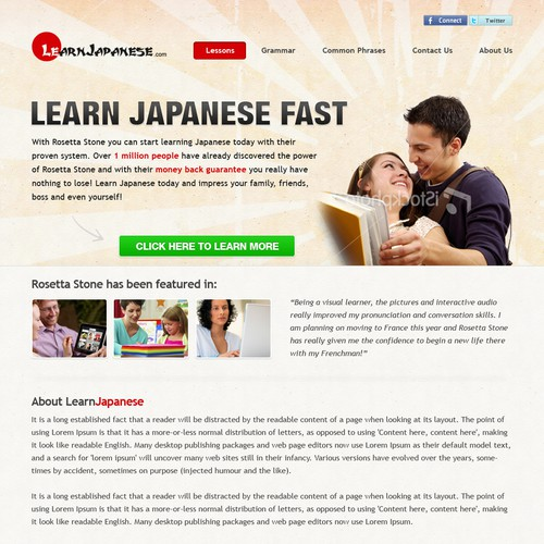 Help Learn Japanese with a new website design