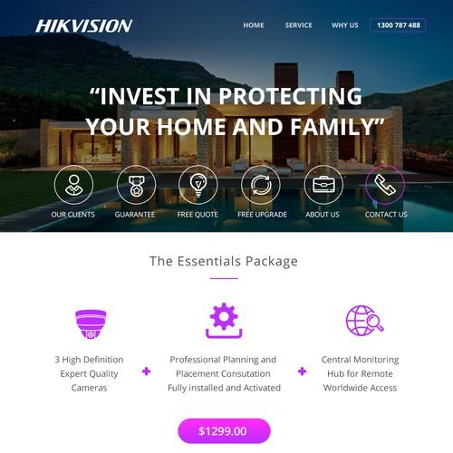 Landing page Hikvision