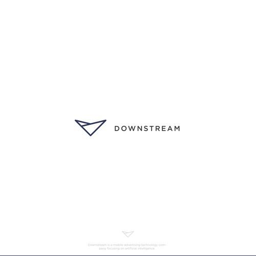 Minimalist Logo for Downstream