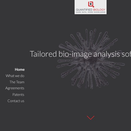 landing page for quantified biology