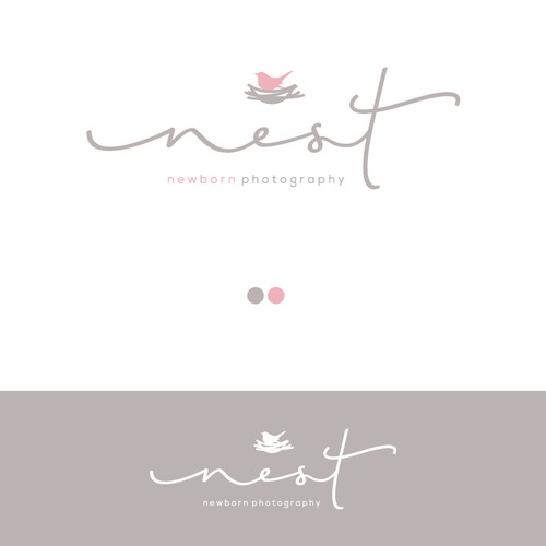 Logo for a newborn photographer