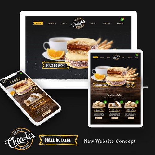 Cookies Concept Website Design