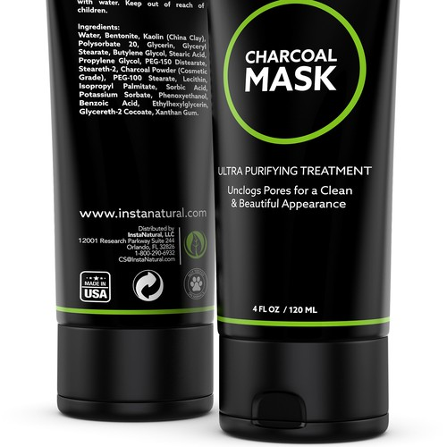 Charcoal Mask 3D Rendering