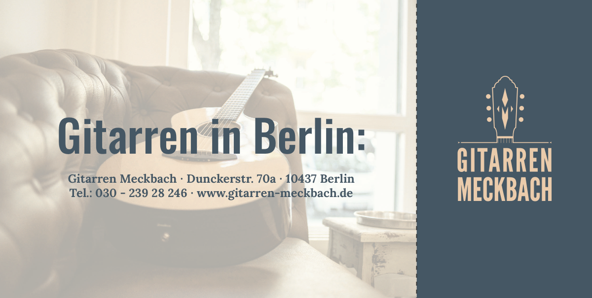 Gitarren Meckbach Flyer Relaunch