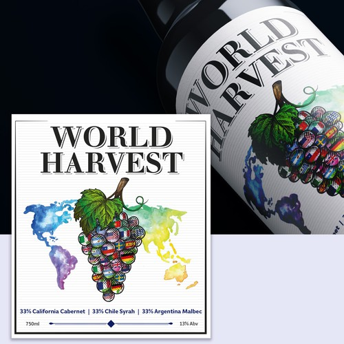 Winery product label