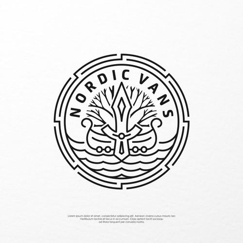 Logo concept for Nordic Vans