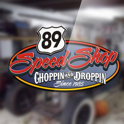 Create the next logo for 89 Speed Shop