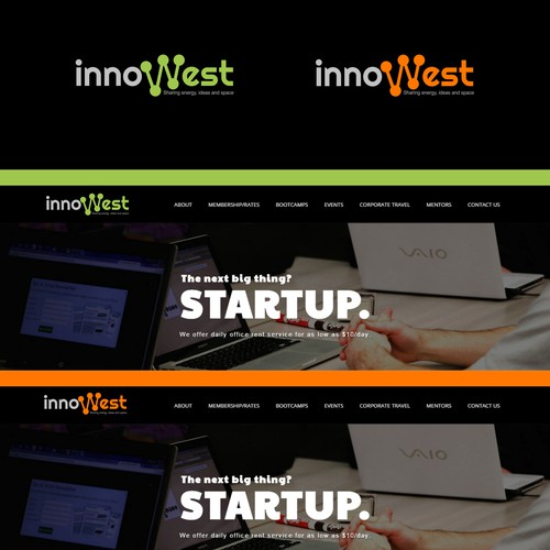innowest logo for sharing slogan