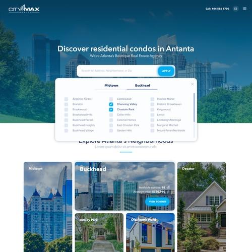 Webdesign for real estate ageny in Atlanta