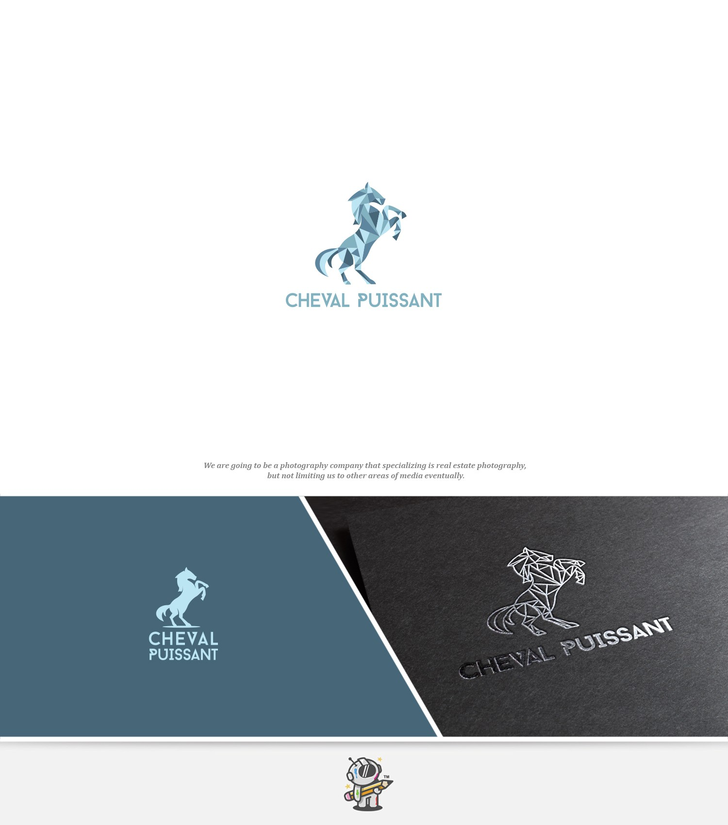 Cheval Puissant - Real Estate Photography Needs Sharp Logo - Feel free to explore horse themes