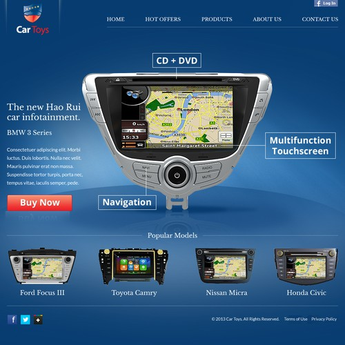 Help Car Toys with a new website design