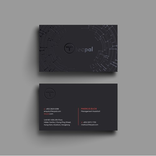 Techy Business Card for Tecpal.