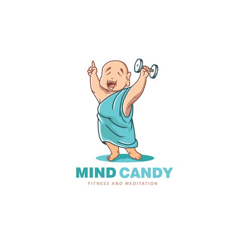 illustrative logo concept for mind candy