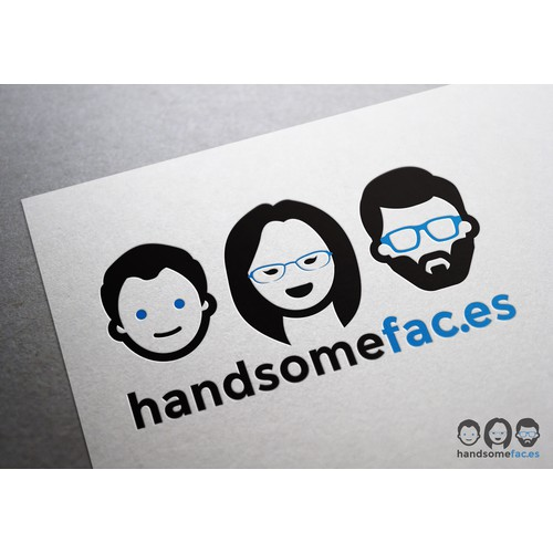 Create a cool tech company logo featuring diverse faces!