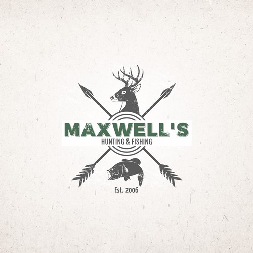 Logo for hunting and fishing company