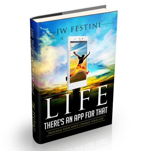 """Book Cover Design. Titled """"Life, There's An App For That"""""""