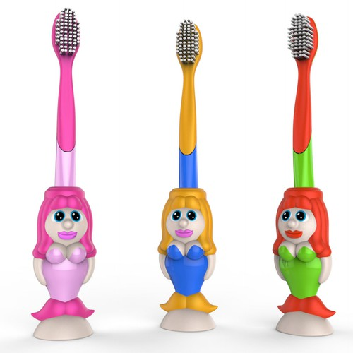 Mermaid toothbrush handle