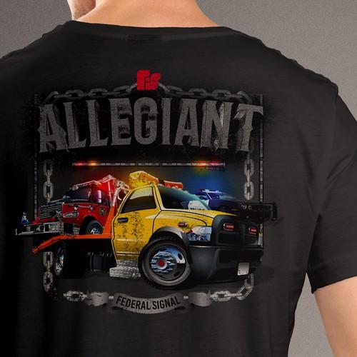 Allegiant hook truck TShirt