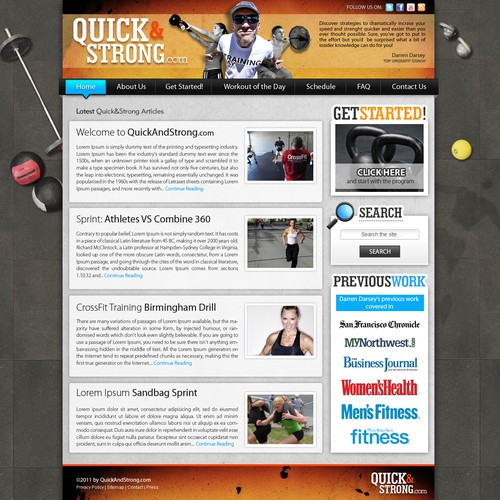 Kick This Ugly Crossfit Blog Into Shape - Great Designer Needed