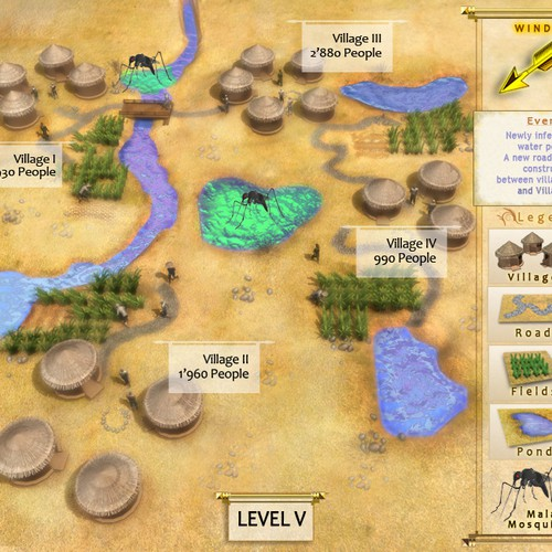 Design a Game Map of Sub-Saharan Africa