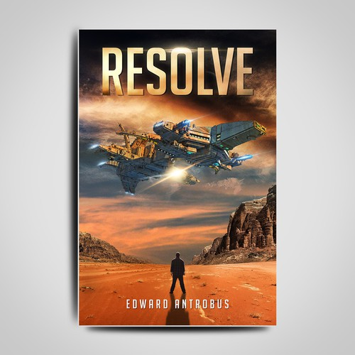 Book Cover Design about spaceship on earth