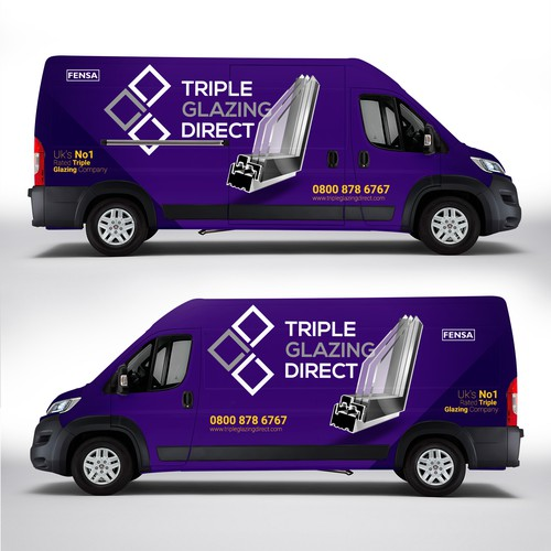 Triple Glazing Direct Van Wrap