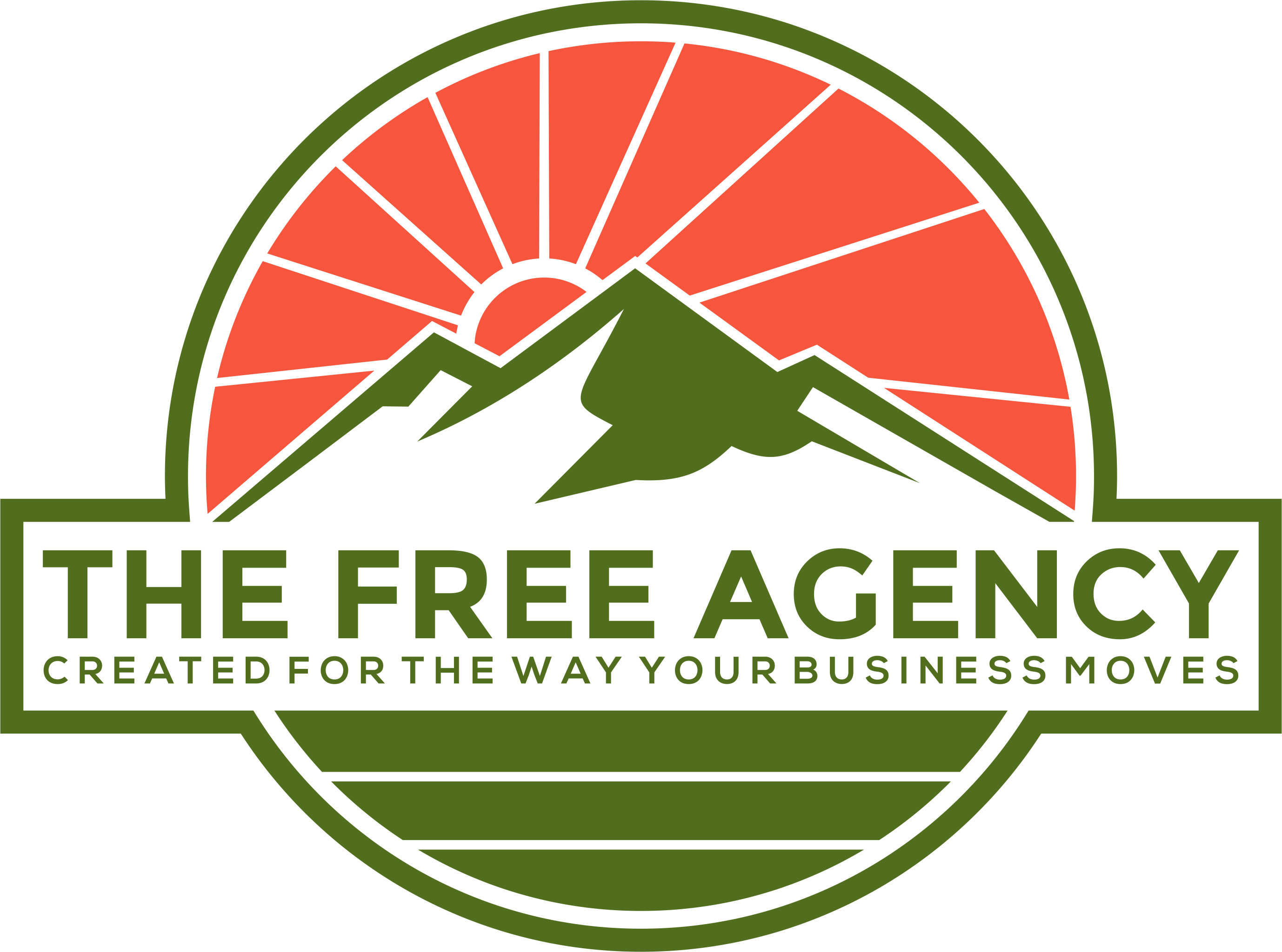 Create a powerful and timeless logo for The Free Agency, an experiential marketing company.