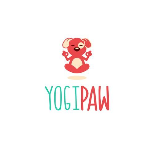 Cute logo for YogiPaw