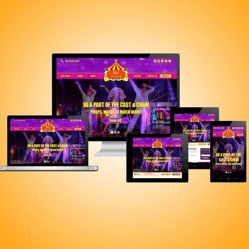Bj's Plays Christian Event Website design