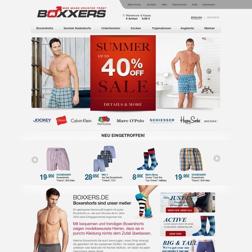 BOXXERS needs a new website design