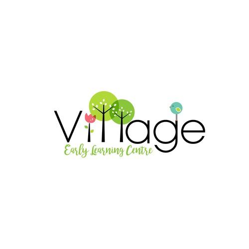 Feminine and organic logo for the Child Care Centre.