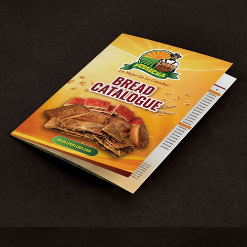 Trifold Catalog for Frusecha Bread line