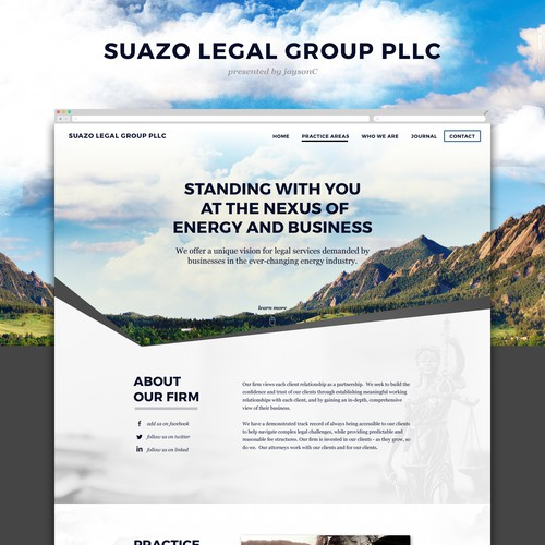 Bold Site for mining law firm