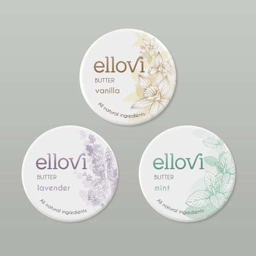 Natural Body Butter Label Design