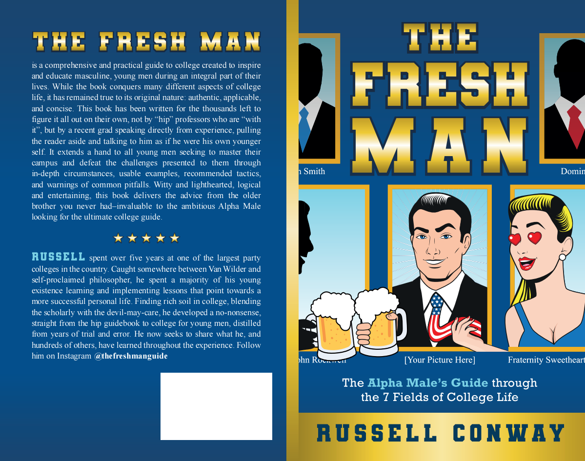 """Paperback Book Cover for Previous work """"The Fresh Man"""""""