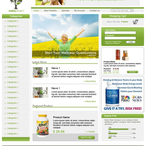 Natupharm Website