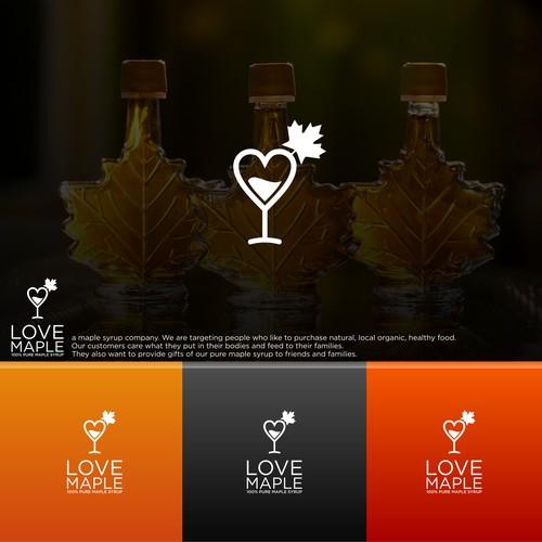 Bold logo for Love Maple