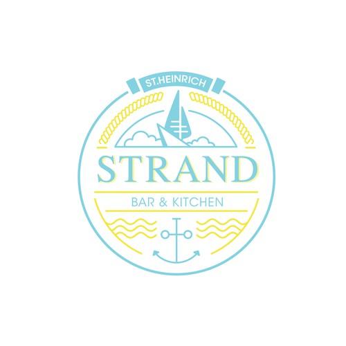 Logo for a seaside restaurant STRAND