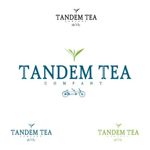 tandem tea company logo concept