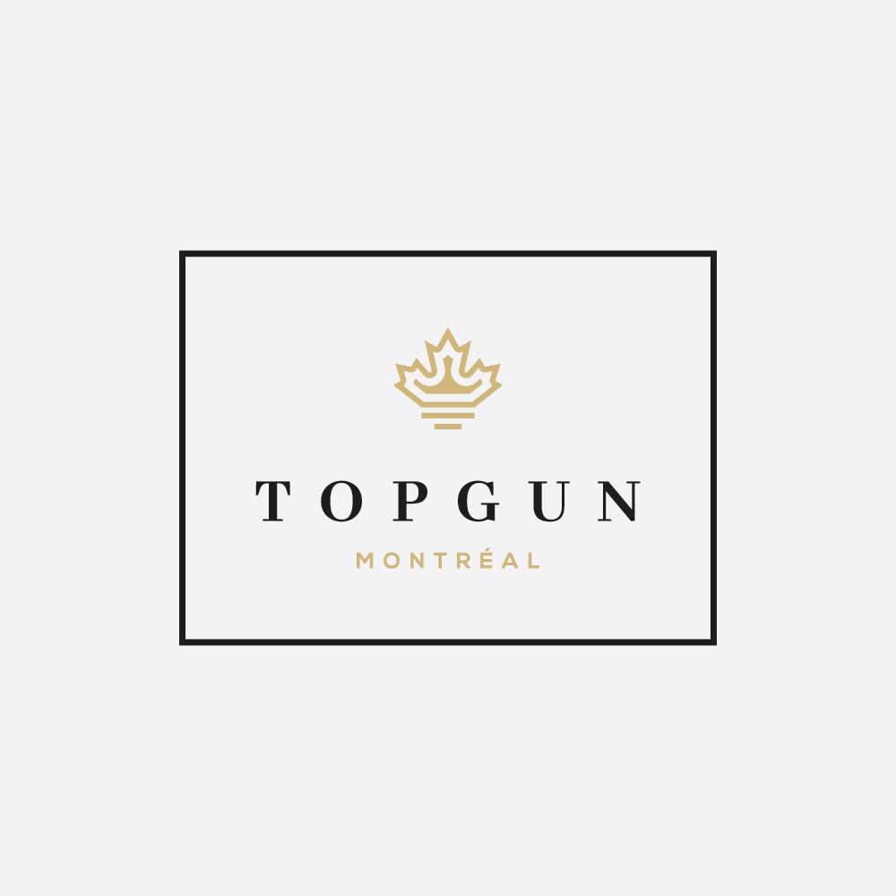 Create a Powerful Luxury Masterpiece Logo for Topgun Pomade.