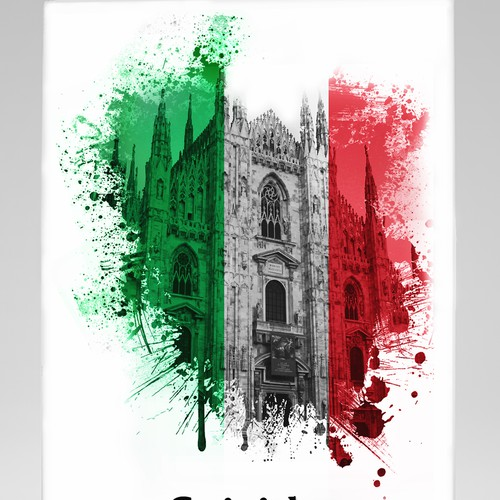 Create a compelling cover for a crime novel set in Milan, Italy