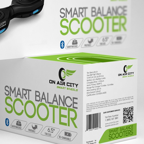 modern smart balance scooter packaging