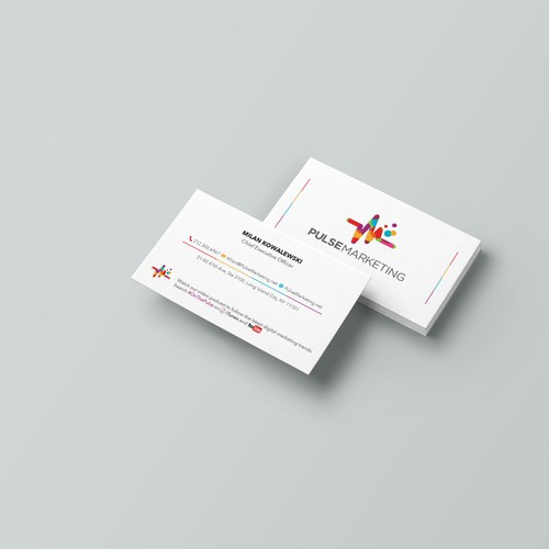 "Eye-catching business card design for ""Pulse Marketing"""